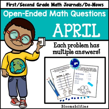 April Open-Ended Math Questions for Journals or Do-Nows (F