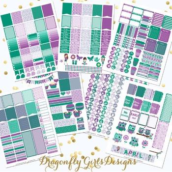 April Planner Stickers Kit