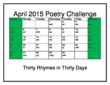 April Poetry Challenge 2015
