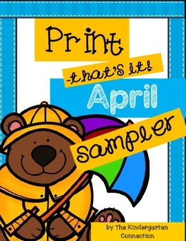 April Print-That's It! Kindergarten Math and Literacy Prin