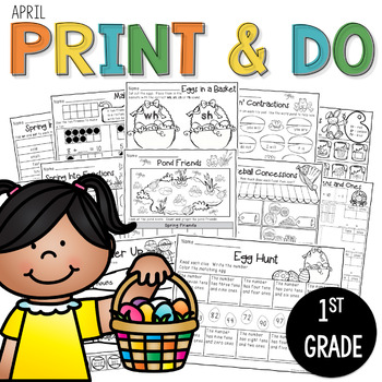 Printables April Print and Do- No Prep Math and Literacy 1