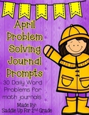 April Problem Solving Journal Prompts