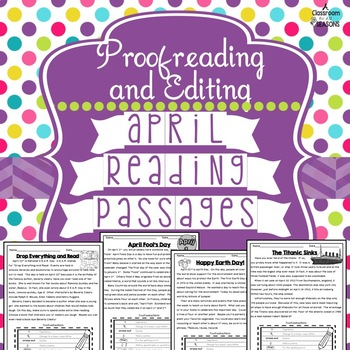 April Reading Passages: Proofreading and Editing with Comp