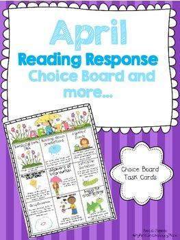April Reading Response Choice Board