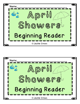 April Showers Beginning Reader