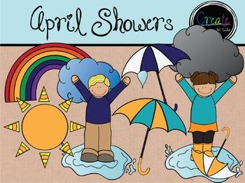 April Showers - Digital Clipart