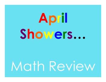 April Showers Math Review
