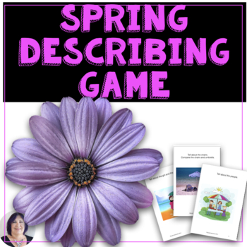 Spring Flowers Receptive & Expressive Language Activity & Game