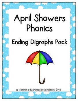 April Showers Phonics: Ending Digraphs Pack