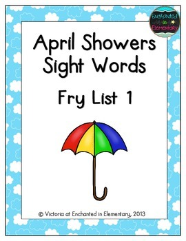 April Showers Sight Words! Fry List 1