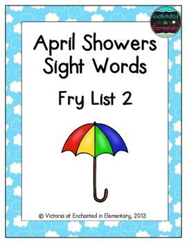 April Showers Sight Words! Fry List 2