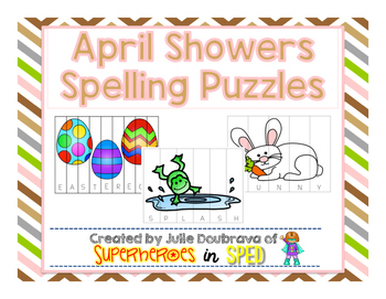 April Showers Spelling Puzzles