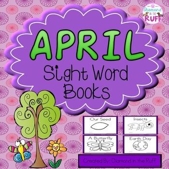 April Sight Word Books