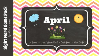 April Sight Word Game Pack
