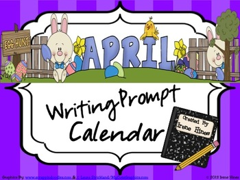 April, Spring & Easter Writing Prompt Calendar ~{Common Co