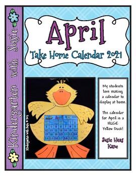 April Calendar Craft and MORE!
