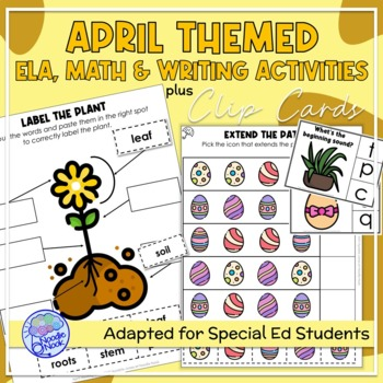 April Themed Adapted Unit for Autism Units or Early Elem.