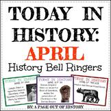 April Today in History Bell Ringers (EDITABLE)