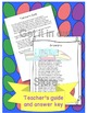 Word of the Day April Cut and Paste Activities