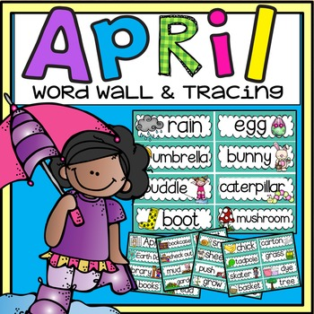 Word Wall and Tracing: April (Easter, Spring, Earth Day, H