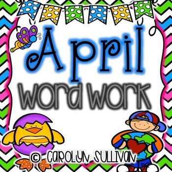 April Word Work for Kindergarten