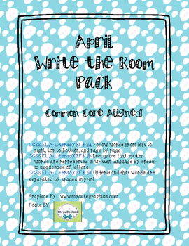 April Write the Room Pack