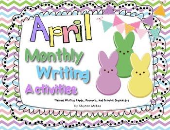 April Writing Activities Bundle: Prompts, Graphic Organize