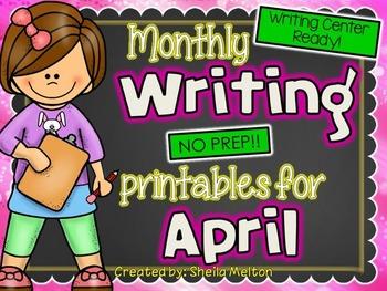April Writing Center NO PREP Printables