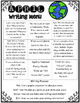 April Writing Menu with Graphic Organizers & Publishing Pa