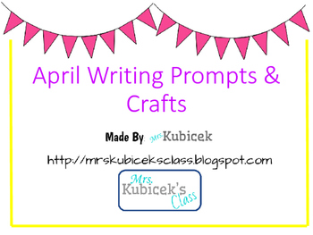 April Writing Prompt Crafts
