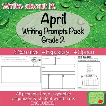 April Writing Prompts Pack