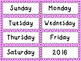 April and May Butterfly Calendar Numbers