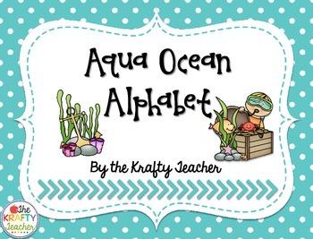 Aqua Polka Dot Ocean Alphabet