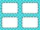 Aqua Tile Classroom Labels and Tags