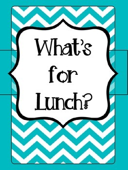 Aqua and Pink Lunch Choice Signs