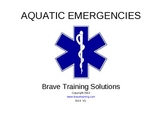 Aquatic & Diving Medical Emergencies for EMT / MFR