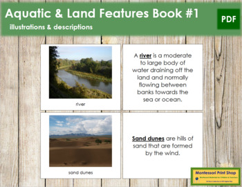 Aquatic and Land Features (Photos) Book - Set 1