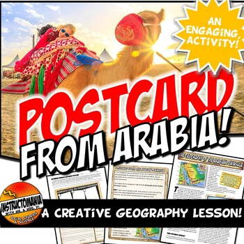Arabian Peninsula Geography Reading and Postcard Activity
