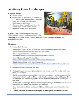 Arbitrary Color Independent Study Lesson