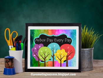 Arbor Day Poster Printable Science Classroom Decor