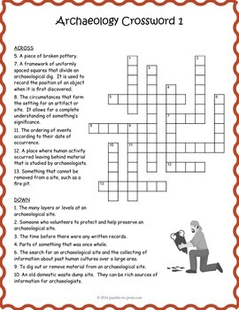 Archaeology Activity : Archaeology Crossword Puzzles