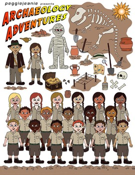 Archaeology Adventures Clipart