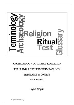 Archaeology Religion & Ritual Terminology Teaching & Testi