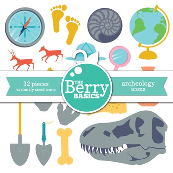 Archeology Icons- Freebie 32 Pack