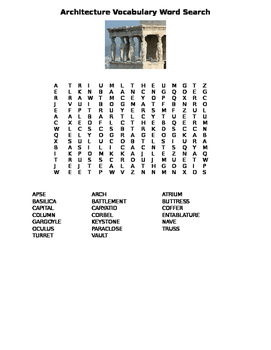 Architecture Art Word Search