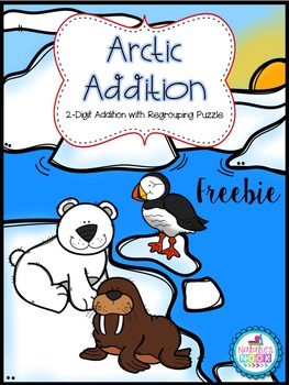 Arctic Addition FREEBIE {2-Digit Addition with Regrouping Puzzle}