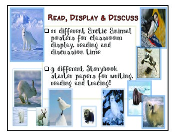 Arctic Animal Classroom Posters and Storybook Papers