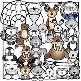 Polar and Arctic Animal Clipart Bundle