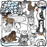 Arctic Animals Clipart Bundle