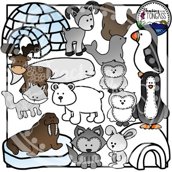Arctic Animals Clipart Bundle